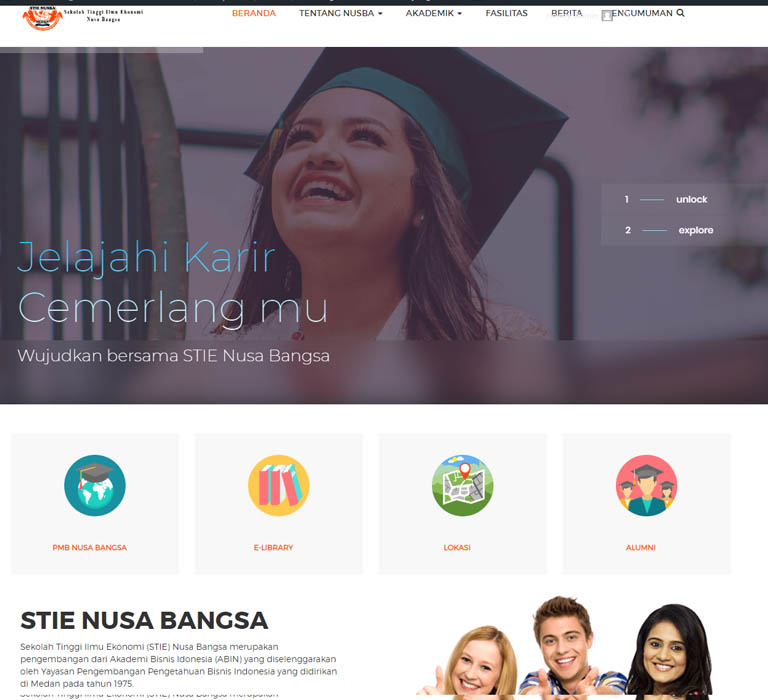 Website Kampus STIE Nusa Bangsa