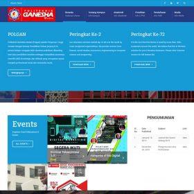 Website Kampus Politeknik Ganesha Medan