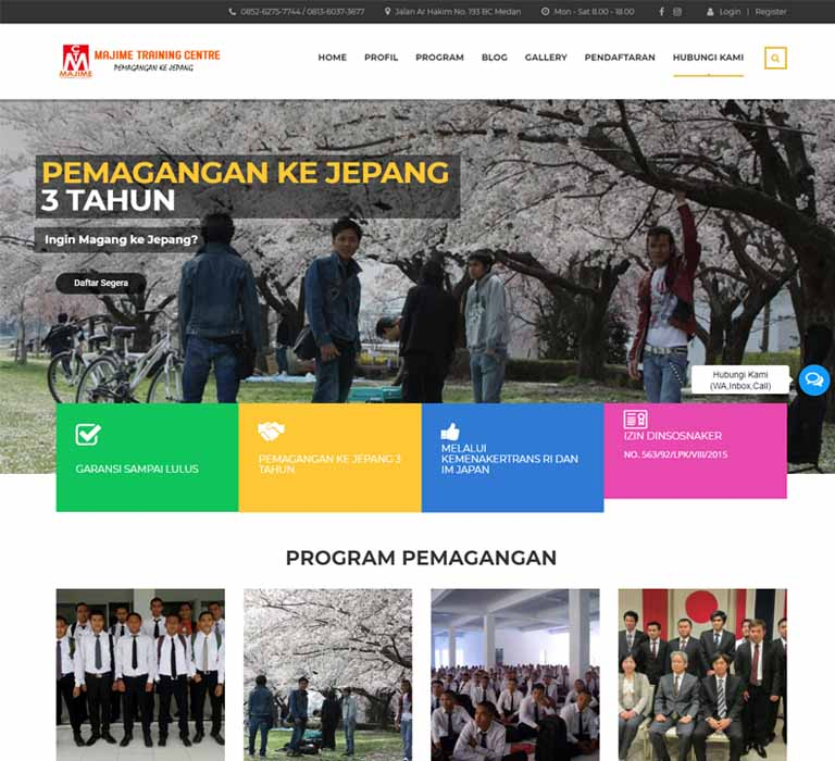 Website Majime Training Centre